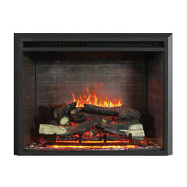 "BRAND NEW 2000W 30"" ELECTRIC FIREPLACE HEATER INSERT REALISTIC FLAME WOOD LOG"