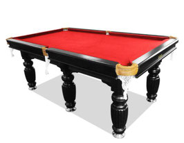 9FT Slate Pool Snooker Table Red Felt With Free Accessories