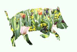 Blumiges Schwein