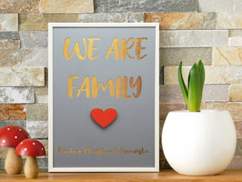 "Holzbild DIN A3 ""We are Family"""