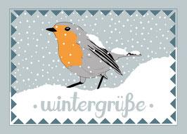 Postkarte 'wintergrüße'