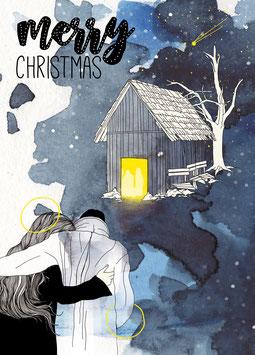 Postkarte 'merry'