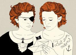 Postkarte 'Piratinnen'