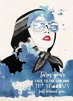 Postkarte 'sun'