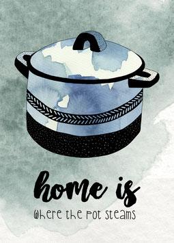 Postkarte 'Home'