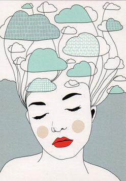 Postkarte 'Wolkenfrau'