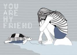 Postkarte 'you'