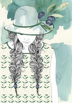 Postkarte 'miss olive'