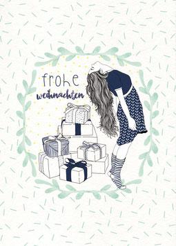 Postkarte 'frohe weihnachten'