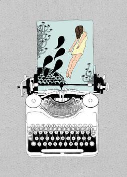 Postkarte 'Imagewriter'