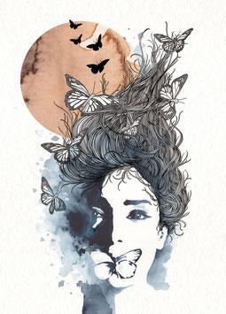 Postkarte 'moon'