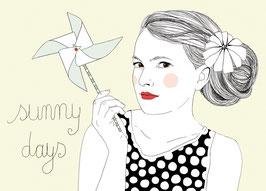 Postkarte 'Sommermädchen'