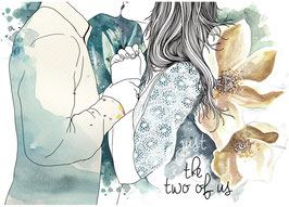 Postkarte 'just the two of us'