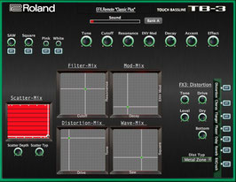 "TB-3 Editor for PC / Mac  EFX.Remote ""Classic Plus"". (Vst, AU  and Standalone)"