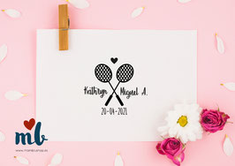 Sello Badminton