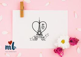 Sello Paris corazón