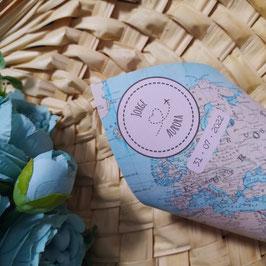 Mapa + corazón - Conos