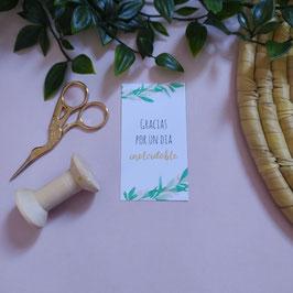 Olivo mini- Tarjeta