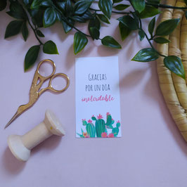 Cactus mini- Tarjeta