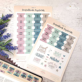 Register Tabs & Sticker für Dreifachkombi -Galaxie Set