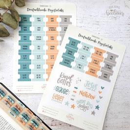 Register Tabs & Sticker für Dreifachkombi -Sommersonne Set