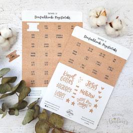 Register Tabs & Sticker für Dreifachkombi -Kraftpapier Set