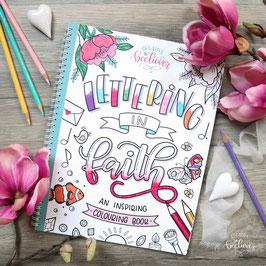 Lettering in Faith -Malbuch/ Colouring book