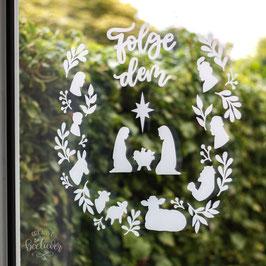 "VORBESTELLUNG Fensterbild-Adventskalender ""Folge dem Stern"" (D/EN)"