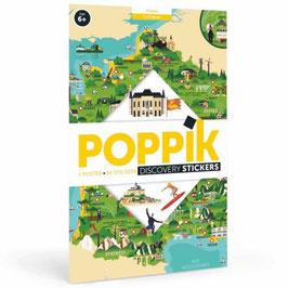 Poster + stickers Carte de France 6/12 ans POPPIK