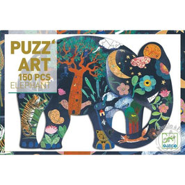 Puz'art Elephant 150 pièces+6 ans DJECO