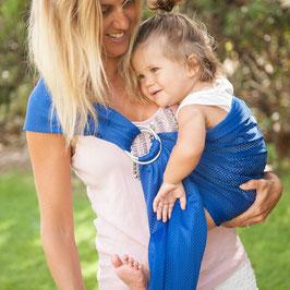 Porte-bébé SUKKIRI Sling bleu électrique