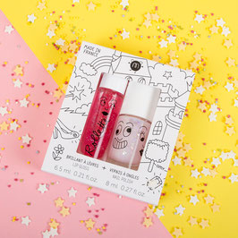 Coffret rollette framboise + vernis Polly NAILMATIC KIDS