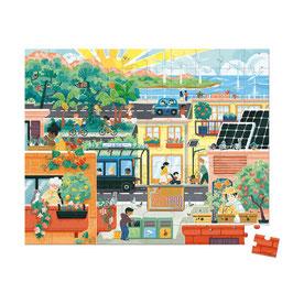 Puzzle  Ville verte 100 pcs JANOD x WWF