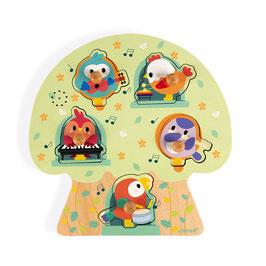 Puzzle musical Les Oiseaux en Fête JANOD