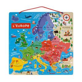 Carte d'Europe magnétique JANOD