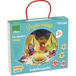 Puzzles évolutifs Les Vacances +2ans VILAC