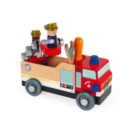 Camion de pompiers Brico'Kids JANOD