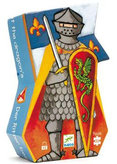 Puzzle Le chevalier au dragon 36 pcs +4ans DJECO
