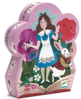 Puzzle Alice au pays des merveilles 50pcs +5ans DJECO