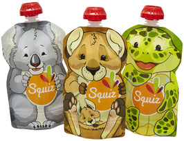 Lot de 3 gourdes souples Australia SQUIZ