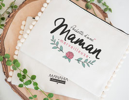 Pochette pompons Maman Merveilleuse MANAHIA