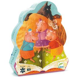 Puzzle Les 3 petits cochons 24 pcs +3ans DJECO