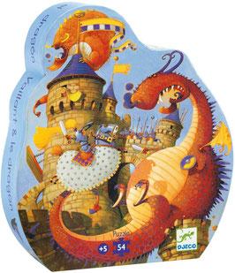Puzzle Vaillant et le Dragon 54 pcs +5ans DJECO