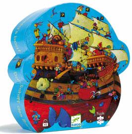 Puzzle Le bateau de Barberousse 54pcs +5ans DJECO