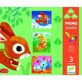 Primo Puzzle Lapins DJECO