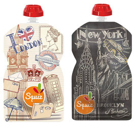 Lot de 2 gourdes London New Yok SQUIZ