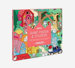 Poster géant & stickers Fantastic OMY