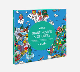 Poster géant & stickers Atlas OMY