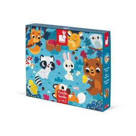 Puzzle Tactile Géant Animaux de la forêt JANOD