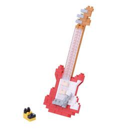 Guitare électrique rouge NANOBLOCK